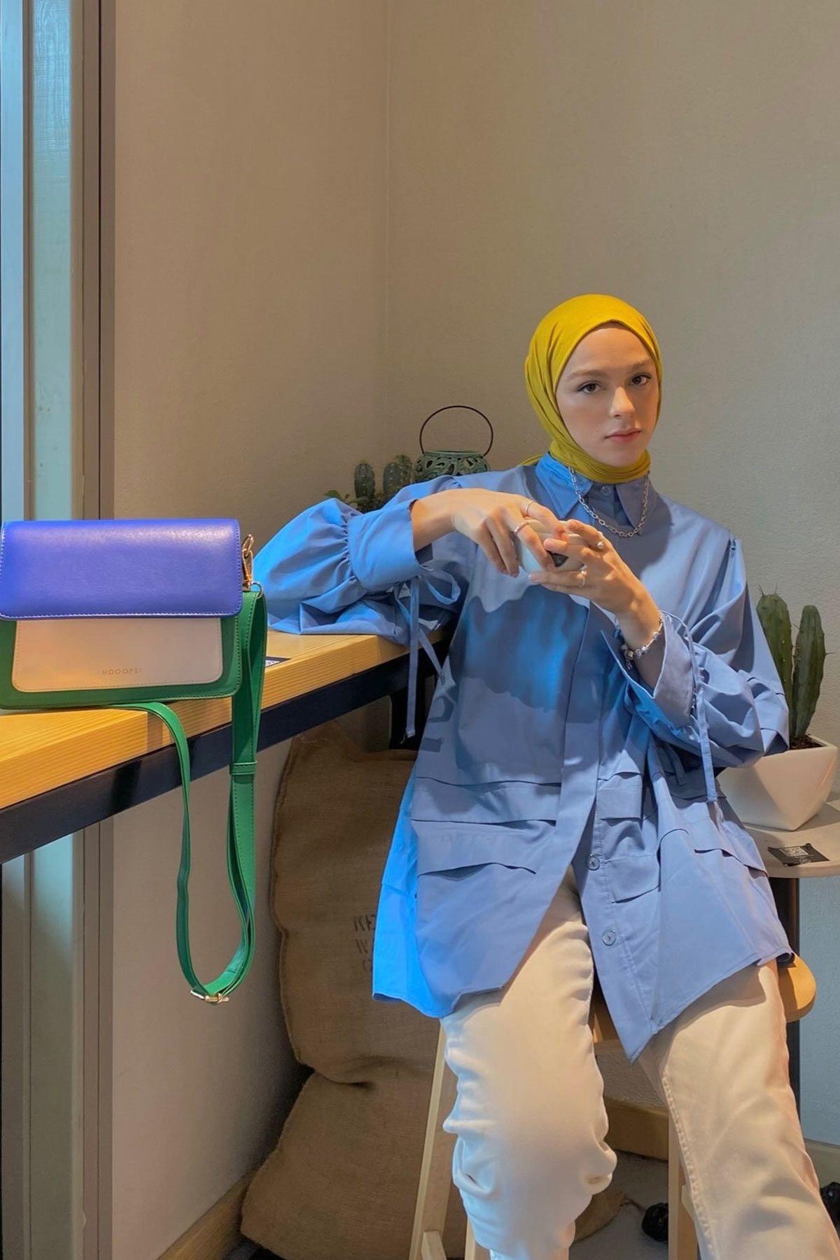 Beyza Karam'ın Juliet Poplin Gömlek Kombini