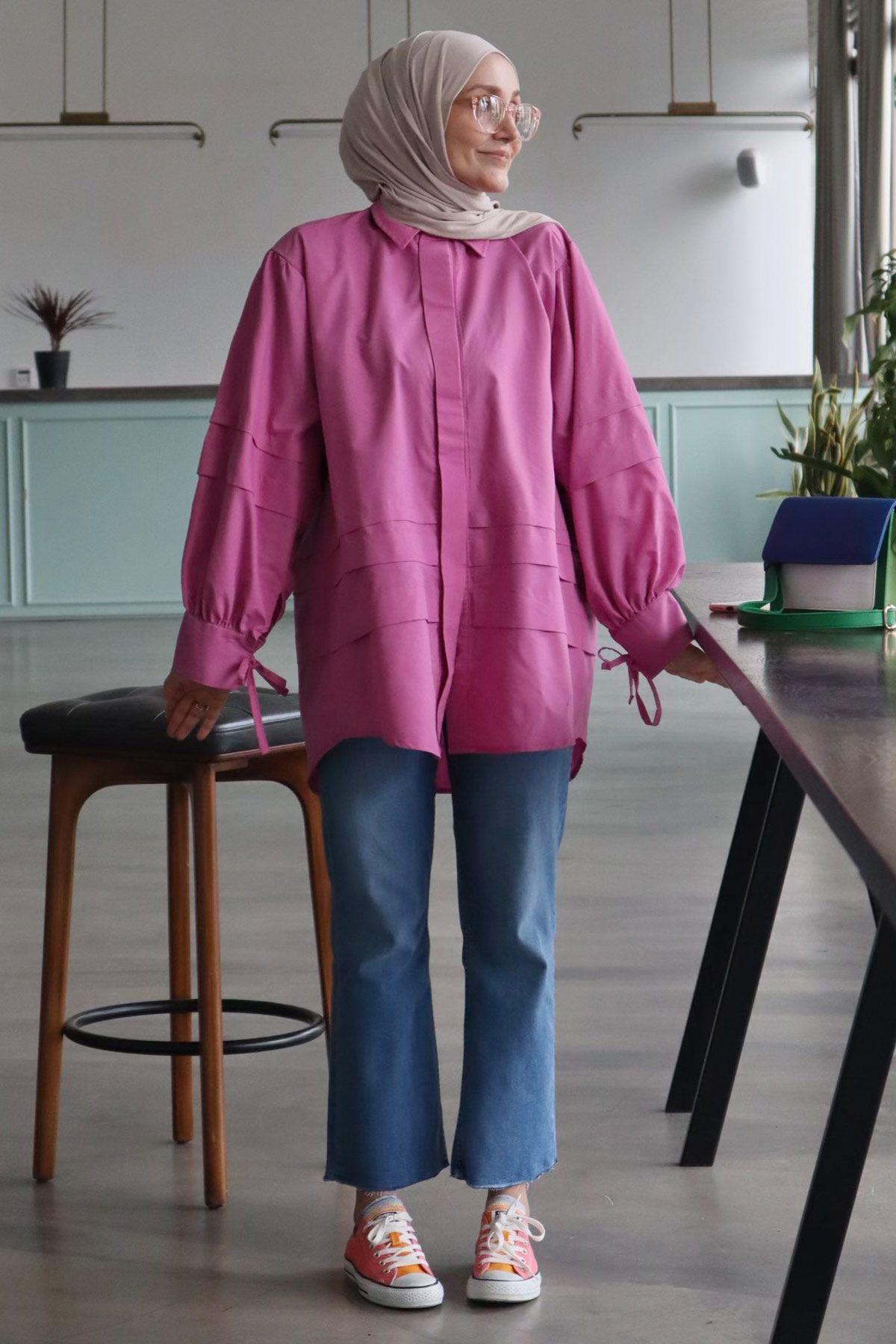 Kübra'nın Juliet Poplin Gömlek Kombini