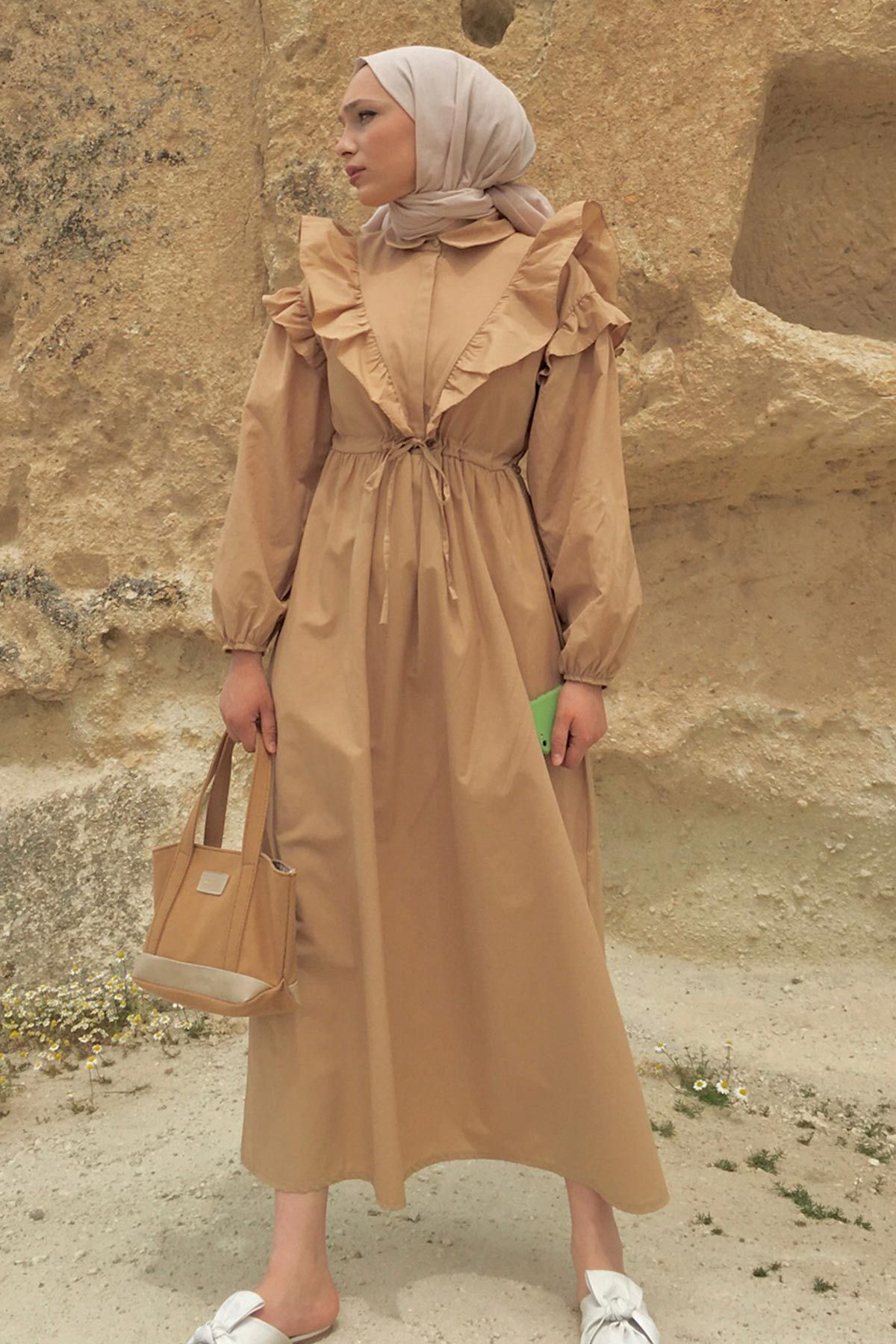 Eda'nın Juliet Poplin Elbise Kombini