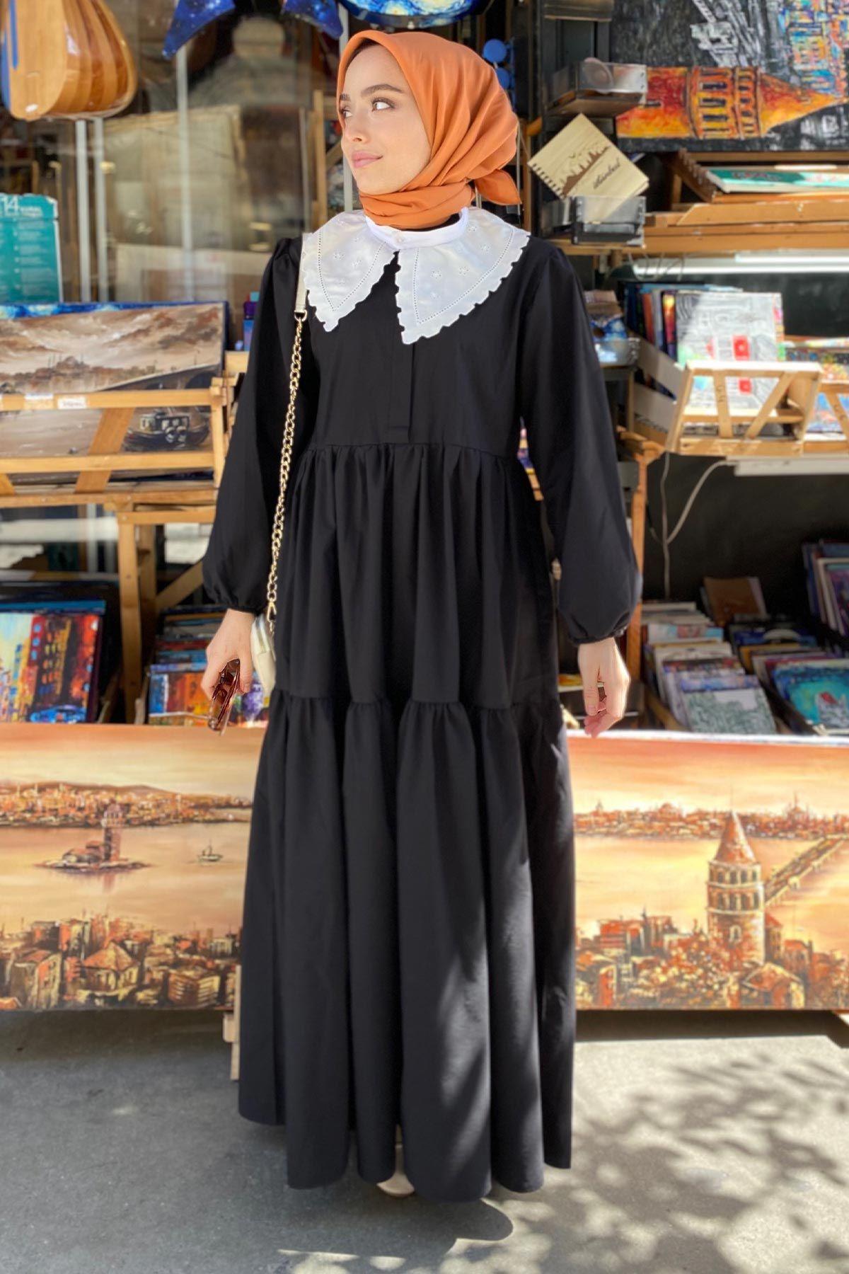 Rumeysa'nın And Poplin Elbise Kombini