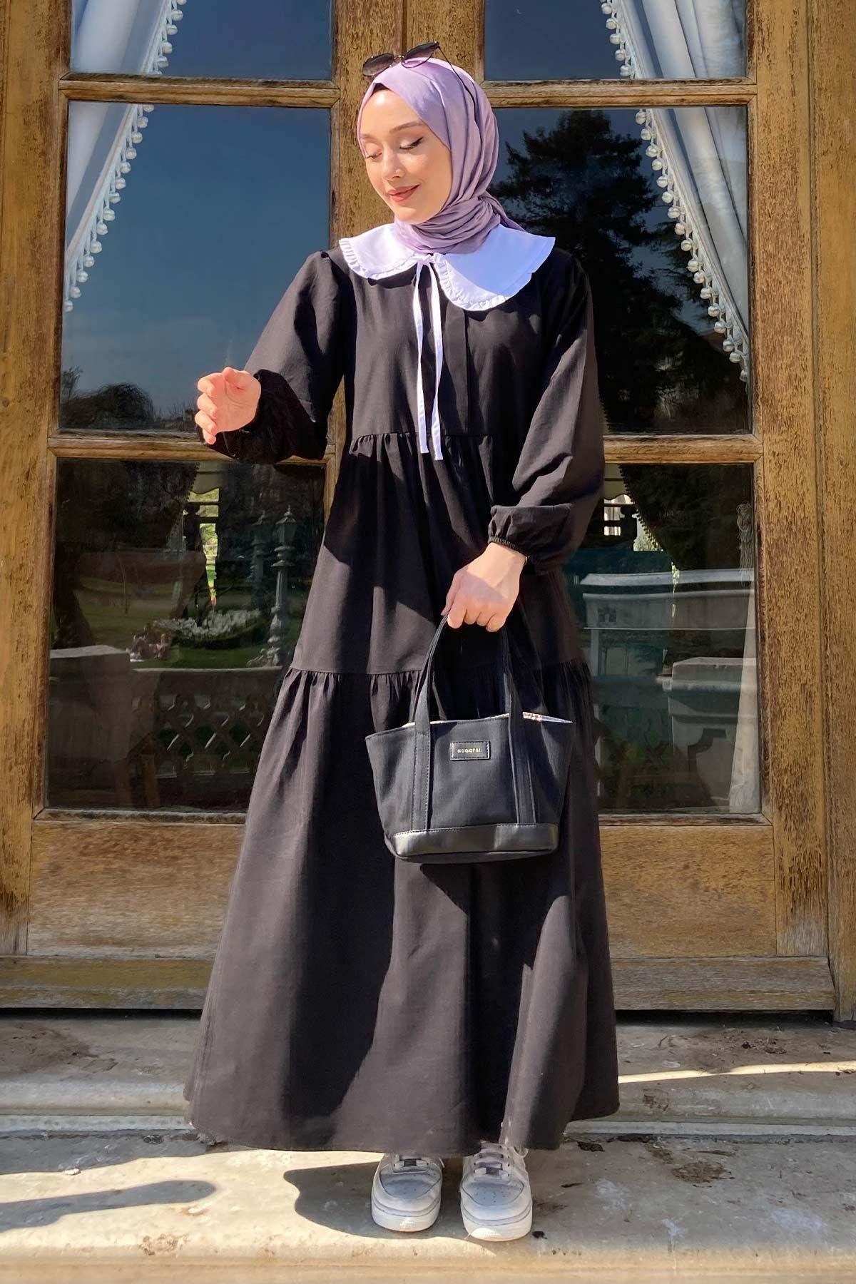 Melek'in And Poplin Elbise Kombini