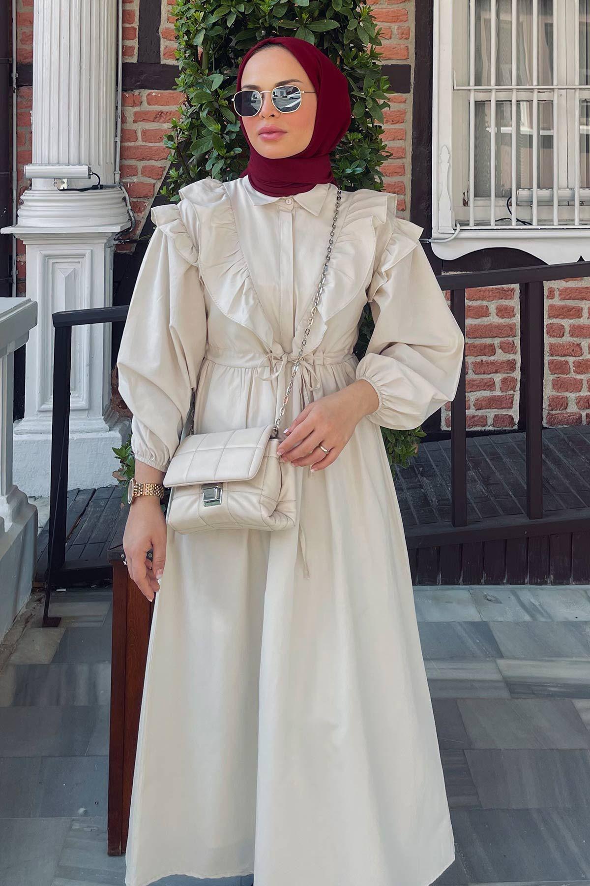 Valor Scarf'ın Juliet Poplin Elbise Kombini