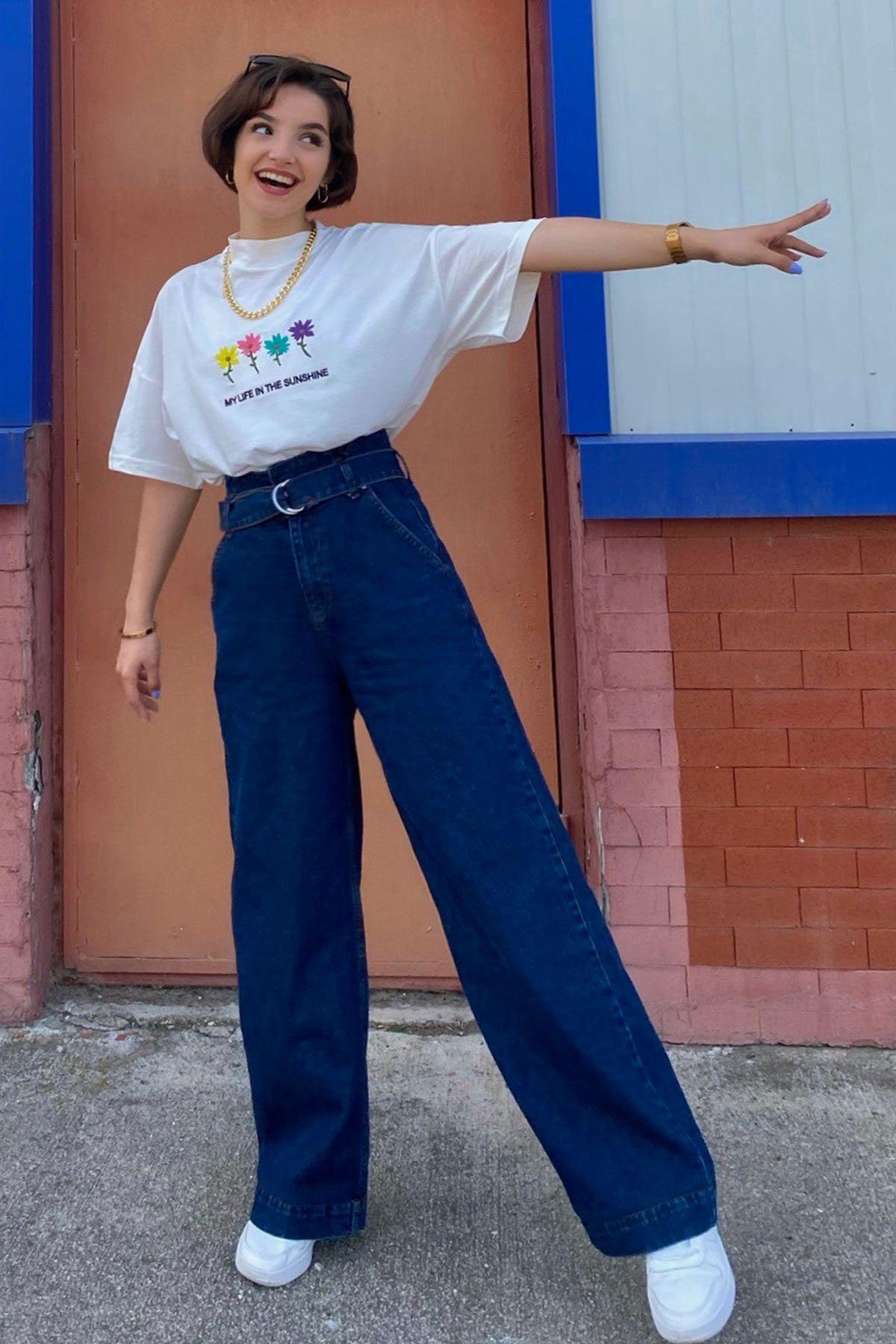 Eda'nın Sunshine T-shirt Kombini