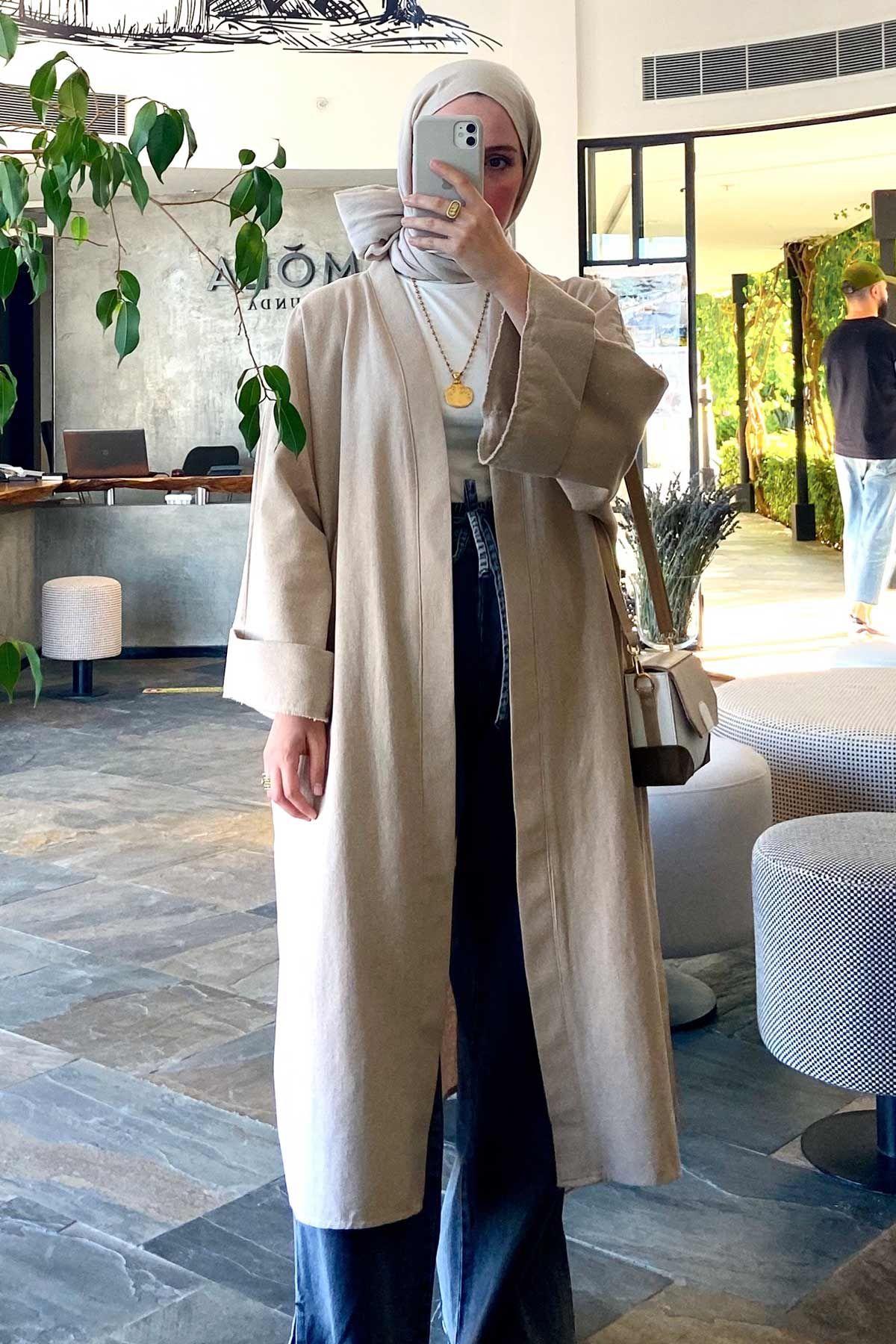 Merve Hifa'nın Naturel Kimono Kombini
