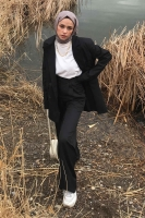 Maveraben'in Kruvaze Blazer Ceket Kombini - Thumbnail