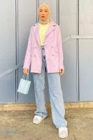Sedanur'un Kruvaze Blazer Ceket Kombini - Thumbnail
