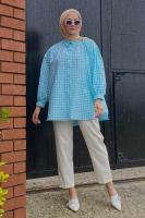 Seda'nın Puffy Gofre Gömlek Kombini - Thumbnail