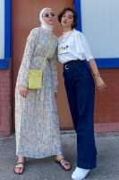 Ecmel'in Piliseli Şifon Elbise Kombini - Thumbnail