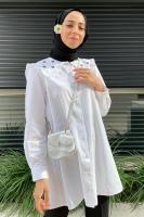 Rabia'nın Çiçek Nakışlı Gömlek Kombini - Thumbnail