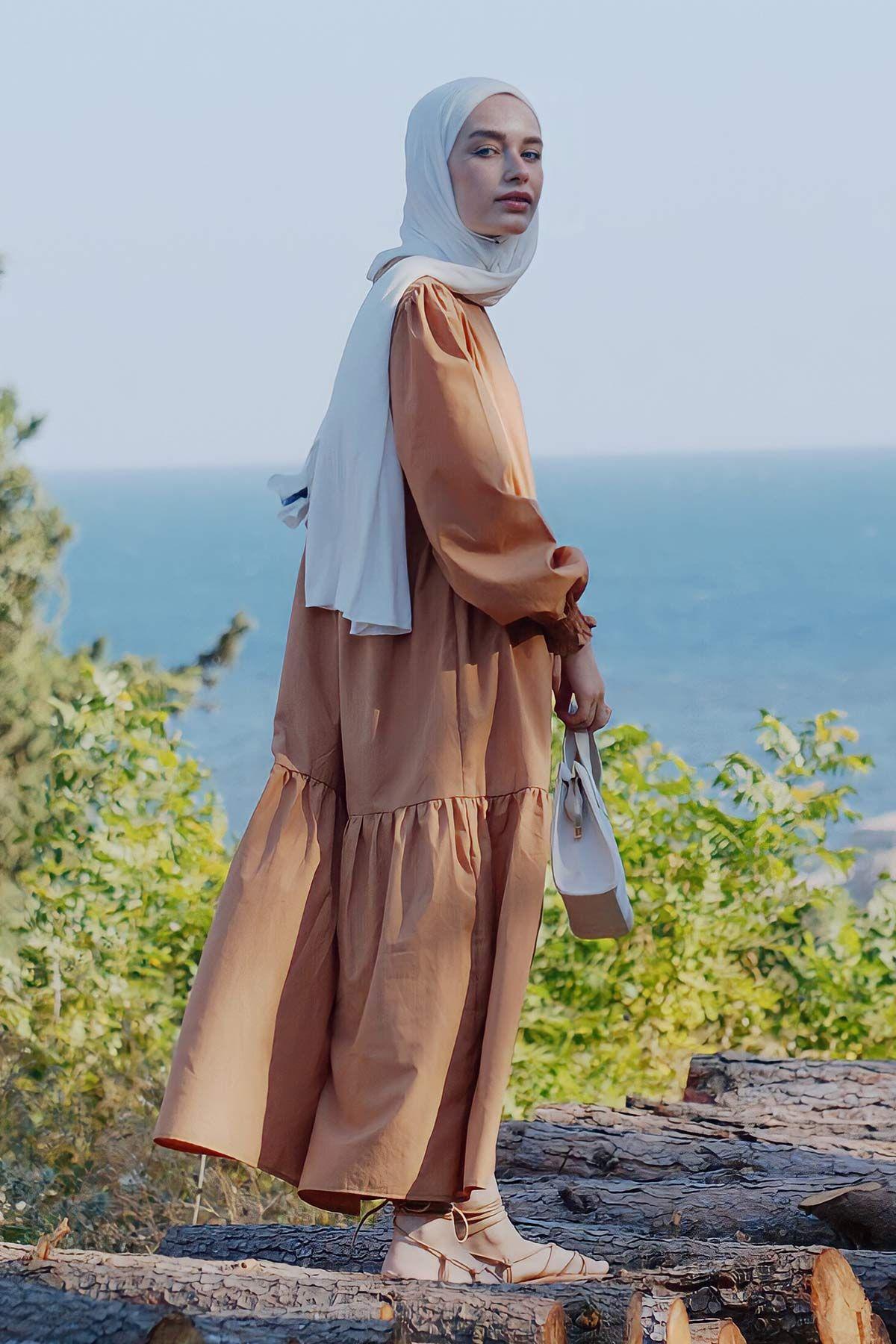 ROOMY ELBİSE - CAMEL